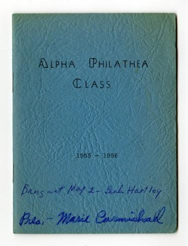 Alpha Philathea Yearbook, Pearl Hartley