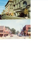 Ball Store in downtown Muncie (not the RNC) and the Village postcard.