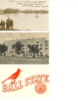 Flood picture and Teachers College postcards