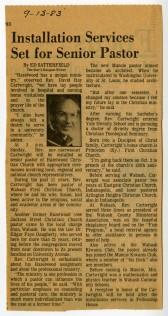 Hazelwood Pastor Star Press article 9-13-83