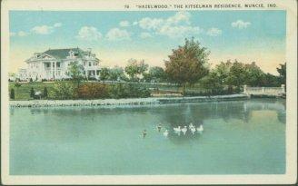 Muncie Postcard Back - Kitselman Estate