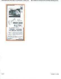Advertisement for the opening of the Green Door Tea Room