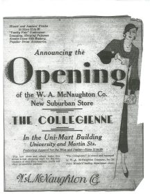 Opening of The Collegienne Store Advertisement