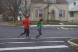 Students jogging on Neely Ave - 2016
